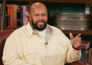 "LOS ANGELES - NOVEMBER 18:  (FILE PHOTO)  Music Producer Marion ""Suge"" Knight (L) and guest host D.L.Hughley appear at CBS Studios for a taping of ""The Late Late Show"" on November 18, 2004 in Los Angeles, California. Knight was reportedly shot in the leg at a party hosted by Hip Hop artist Kanye West early on Sunday August 28, 2005 in Miami Beach, Florida.  (Photo by Mark Mainz/Getty Images) *** Local Caption *** Marion Knight"